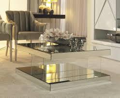 mirrored coffee table. Luxury Mirrored Coffee Table E
