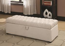white leather storage ottoman. FurnitureLong White Leather Storage Ottoman Bench With Tufted For Bedroom Along Furniture Most Creative
