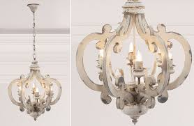interior architecture eye catching white wood chandelier on distressed rustic chandeliers french country white wood