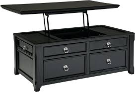 black coffee table glass occasional tables with drawers and shelf top black coffee table