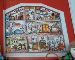 Charts House Details About Doll House Chart Included Spainish Cross Stitch Magazine Cuadros Artime