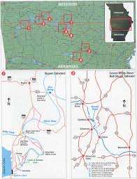white river, missouri and arkansas, map great rivers angler's White River Arkansas Map \