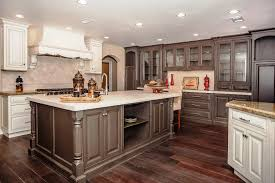 two tone kitchen cabinets wood