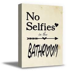 bathroom framed art no selfies