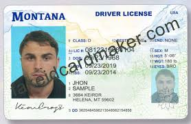 Card - Drivers Id Montana Maker License Fake Virtual