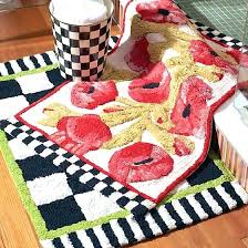 mackenzie childs poppy bath rug lifestyle