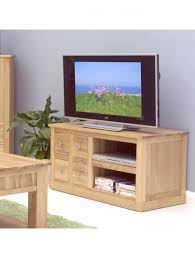baumhaus mobel solid oak fully. Baumhaus Mobel Solid Oak Four Drawer TV Cabinet COR09A - Enlarged View Fully