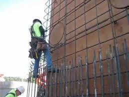 rebar climbing rebar worker