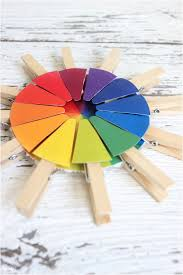 A color wheel is an illustrative organization of colors around a circle, showing the relationships between primary colors, secondary colors, and tertiary colors. Color Wheel Busy Bag Plus Free Printable