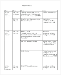 Template For A Program For An Event Event Itinerary Program Template Mediaschool Info