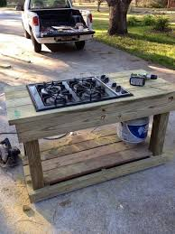 find a gas range on craigslist or yard you have an outdoor stove