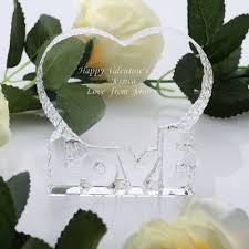 10cm crystal love heart paperweight