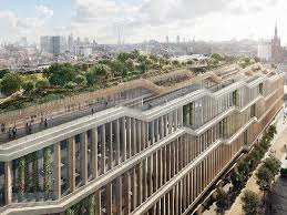 google office in london. google london office: rooftop garden on new building at kings cross looks incredible office in