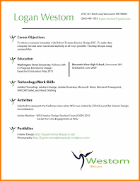 Objective Examples For A Resume 100 interior design resume objective examples action words list 83