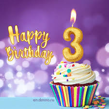 Image result for happy 3 year old birthday