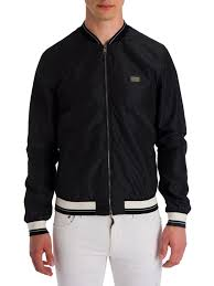 dolce gabbana basic nylon er black men apparel ers varsity dolce gabbana