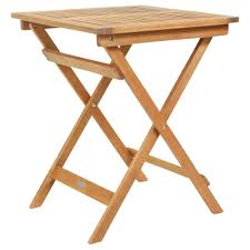 side folding table wooden slatted 2 small plastic