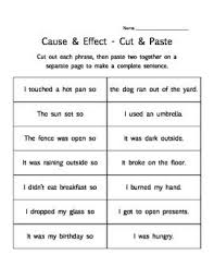 Cause And Effect First Grade Activities Teaching Reading