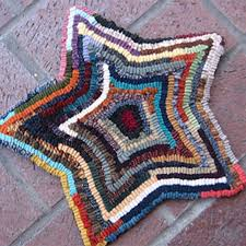 beginner rug hooking kit colorful star