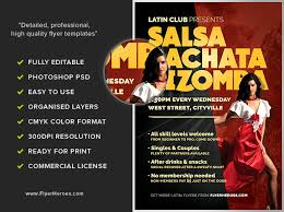 free dance flyer templates free salsa dance flyer template latin dance night flyer template