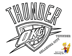 Thunder Basketball Logo Oklahoma City Thunder