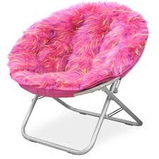 Light Pink Papasan Chair Your Zone Spiker Faux Fur Saucer Chair Multiple Colors