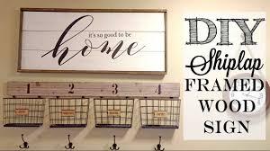 diy shiplap framed wood sign piecing together stencils