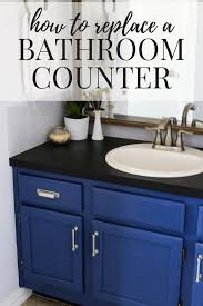 how to replace a bathroom counter on your own it s an easy diy project that