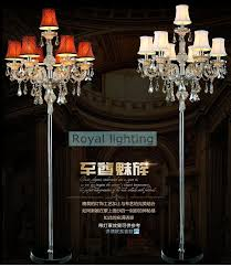 7 arm large wedding crystal floor lamps tall led candle candelabra modern party candle holders sofa