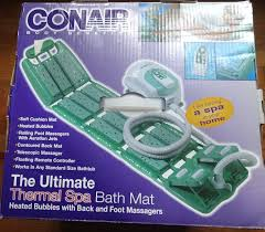 Amazon.com: Conair Deluxe Thermal Spa Bath Mat With Remote and Foot Massage  (DISCONTINUED): Home & Kitchen