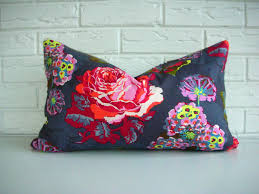 Etsy Throw Pillows Pink Coral Navy Preppy Bohemian Floral Pillow Cover Gray Blue