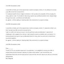 Acceptance Offer Letter Reply Sample Not Accept Job To Via