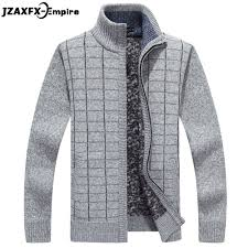 New Sweater Design For Man Us 22 83 35 Off New Arrival Men Autumn Cardigan Sweaters Zipper Design Winter Warm Thicken Sweater For Men Stand Collar Mens Sweaters In Cardigans