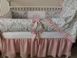 custom baby bedding crib set light pink and gray damask baby girl nursery crib bedding abusymother crib sets