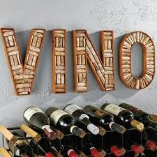 diy wine rack cork sign