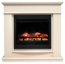 avalon cream stone finish electric fireplace suite b q