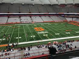 Syracuse Football Dome Seating Chart Carrier Dome Section 302 Syracuse Football Rateyourseats Com