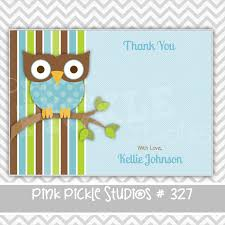 Owl Baby Shower Personalized Party InvitationOwl Baby Shower Thank You Cards