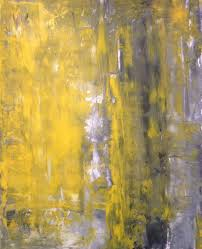 acrylic abstract art painting grey yellow and white modern contemporary original 11 x 14
