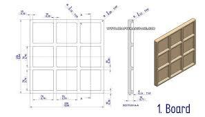 Wooden Game Plans tac toe game plan 39
