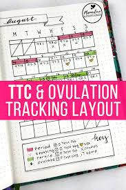 Ttc Tracking Custom Fertility Tracking In Your Bullet Journal