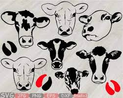 heifer silhouette. Brilliant Heifer Heifer Cows Head Silhouette SVG Clipart Cowboy Western Cow Farm Milk 796S Intended