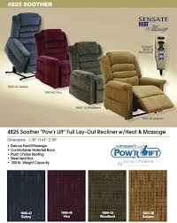 catnapper soother 4825 lift chair recliner information
