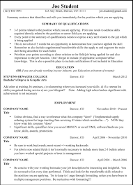 Resume Only One Job Wonderful Resume One Page Only Photos Entry Level Resume Templates 42