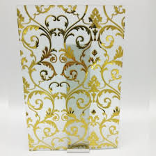 china deep acid etched glass with