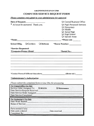 Service Call Form Template Computer Service Request Form 2 Free Templates In Pdf Word Excel