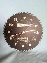 craftsman saw blade clock. vintage sears roebuck craftsman saw blade shop clock. works clock n