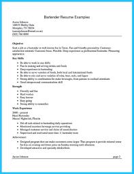 How To Make A Bartending Resume Resume Online Builder