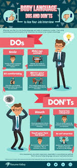 The Do S And Don Ts Of An Interview Job Interview Body Language The Dos And Donts