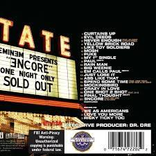 eminem encore s and tracklist